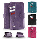 For LG K20 Plus Premium Slide Out Pocket Wallet Case Pouch Cover + Screen Guard