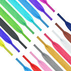 FLAT COLOURED SHOE LACES SHOELACES BOOTLACES - 30 COLOURS