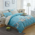 Floral Duvet/Doona/Quilt Cover Set Flat Fitted Sheet Set Queen/King Bed Size New