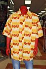 Men's Platinum Fubu Yellow All Over Button Down Shirts