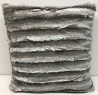 Set of 2 Large Faux Mink Fur Toss Throw Pillows, Many Colors, 20