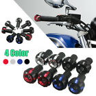 7/8″ 22mm CNC Motorcycle Anti Vibration Handle Bar End Sliders Cap Weights Plugs