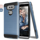 For LG V20 Slim Brushed Hybrid Armor Shockproof Rubber Hard Cover Case