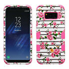 For Samsung Galaxy S8 / S8 PLUS IMPACT TUFF HYBRID Case Skin Cover +Screen Guard