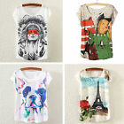 CHIC New Fashion Women Summer Tops Loose Tee Short Sleeve T shirt Casual Blouse