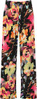 Plus Womens Palazzo Flared Trousers Ladies Floral Print Wide Leg Stretch Pants