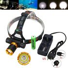 Rechargeable 5000LM XM-L T6 LED Headlight Head Lamp+18650+Charger Underwater 50m