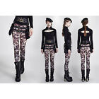 NK259 Punk Rave Kera Visual Gothic Women Leggings Tighting Trousers 2Vers.