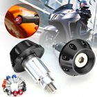 Universal Motorcycle 7/8'' 22mm CNC Handlebar Bar End Weight Caps Plugs Sliders
