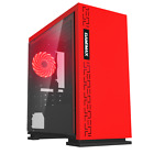 Mega Fast Dual Core 4.1 Hd 8gb 1tb Desktop Home Gaming Pc Computer Nero Red