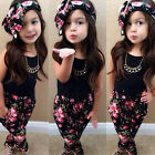 3pcs/set Kids Baby Girls Tops+Pant+Headband Outfits Costume Clothes Age 2-7Y US