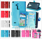 9 cards Multifunctional flip wallet Leather Case pouch cover fr Samsung LG phone
