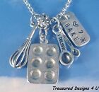 Bake Baking Pan Women's Culinary Graduate Charm Necklace Personalized Jewelry
