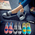 Women Casual Slip On Canvas Shoes Sneakers Breathable Rubber Flats Running Shoes