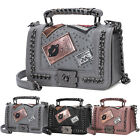 Women Ladies. Vintage Pu Leather Chain Handbag Crossbody Shoulder Messenger Bag