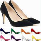 10 Colors Women 8cm High Heels Office Work Party Solid Pointed Toe Pumps Shoes