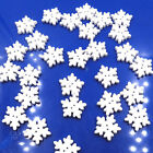 Art Christmas Snowflake Wood Buttons Sewing Knitting Cards decorative buckle
