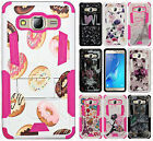 For Samsung Galaxy On5 G550 HYBRID KICK STAND Rubber Case Phone Cover Accessory
