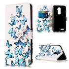 Ultra Slim PU Leather Flip Case Cover Pouch Stand For Phones Blue Butterfly
