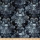 WICKED EVE SKULLS PUNK NOVELTY CRAFT SEWING FABRIC QUILT FREE OZ POST *