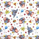 LICENSED DUMBO THE ELEPHANT CIRCUS KIDS SEWING CRAFT QUILT FABRIC Free Oz Post