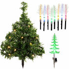 Solar Powered Mini Christmas Trees Fibre optic LED Lights Pathway Multi-Colour