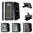 For Samsung Galaxy S8 G950 (2017) Clip Stand Case Skinny Tree Branch Camo