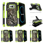 For Samsung Galaxy S8 G950 (2017) Clip Stand Green Case Tree Bark Hunter Camo