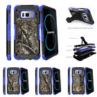 For Samsung Galaxy S8 G950 (2017) Clip Stand Blue Case Tree Bark Hunter Camo