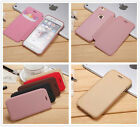 5 color Flip ultra Slim Leather snap on Case cover for iPhone Samsung S8 S8 Plus