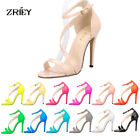 Women's High Heel Open Toe Ankle Buckle Strap Evening Dress Casual Pump Sanda