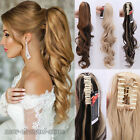 "UK 18-26"" Clip In Ponytail Pony Tail Hair Extension Claw On Hairpiece As Human"