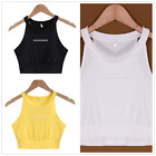 Women Bralette Crop Tops Back Halter Tank Vest Beach Blouse