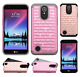 For LG K20 Plus HYBRID IMPACT Hard Dazzling Diamond Case Phone Cover Accessory