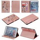 Rose Gold 3D beautiful butterfly flower flip Leather Cover case for Apple Ipad