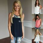 Women Summer Sleeveless Shirt Casual Vest Top Blouse Casual  Tops T-Shirt DZ8803