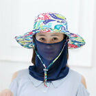 Women's Full Mask Anti UV Wide Brim Outdoor Sun Cap Hat Face Neck Protective New