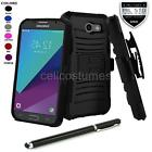 REFINED ARMOR PHONE CASE & SWIVEL HOLSTER FOR SAMSUNG GALAXY J3 EMERGE + STYLUS