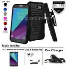 REFINED ARMOR PHONE CASE & SWIVEL HOLSTER FOR SAMSUNG GALAXY J3 EMERGE + BUNDLE