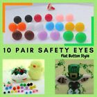 10 PAIR Safety Eyes, Round No Pupil, 10mm 13mm 17mm Anime, Crochet, Sew  RBE-1