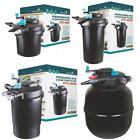Pressurised Koi Pond Filter UV Steriliser Kits - All in One - Ponds up to 50000L