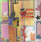 U CHOOSE  Assorted 2 PAGE PREMADE SCRAPBOOK LAYOUTS Easter Fall Halloween USA