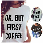 Womens Fashion Loose Tops Blouse Short Sleeve Letter Casual Cotton T-Shirt Tee