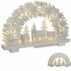 Pre-Lit Snowflake Arch Table Window Christmas Decoration Village Trees White