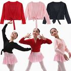 Girls Kid Childrens Ballet Cardigan Crossover Wrap Knitting Dance Clothes 3-12 Y