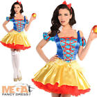 Snow White Ladies Fancy Dress Fairy Tale Book Day Womens Adults Costume Outfit