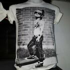 Men T shirt Trendy Popular Funky Girl Model Graffiti M-L cotton New Tee Ruyguy