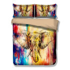 Colorful Sketch Elephant Doona Duvet Quilt Covers Set Single Queen King Size NEW