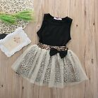 NEW Baby Girl Leopard print Tutu Dress Top outfit Party Animal Print Photo UK
