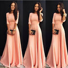 Women Formal Wedding Bridesmaid Long Ball Gown Party Cocktail Evening Dress NEW